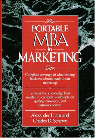 9780471547280: The Portable MBA in Marketing (Portable Mba Series)