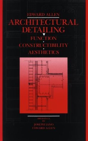9780471547921: Architectural Detailing: Function Constructibility Aesthetics
