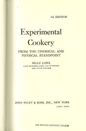 Experimental Cookery: Belle Lowe