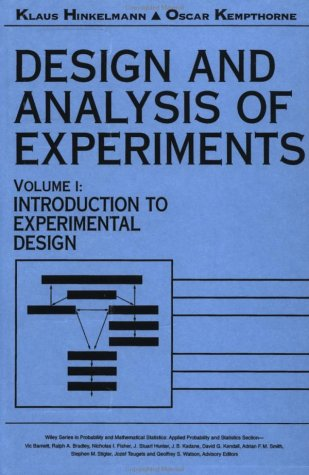 9780471551782: Design and Analysis of Experiments, Introduction to Experimental Design (Wiley Series in Probability and Statistics) (Volume 1)