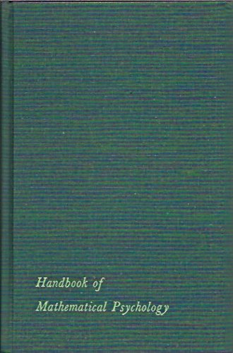 9780471553458: Handbook of Mathematical Psychology: v.1 (Vol 1)