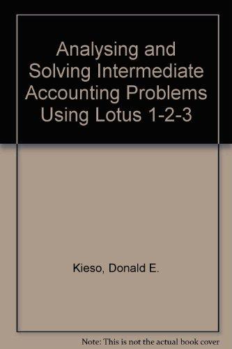 9780471553519: Intermediate Accounting, Lotus Problems