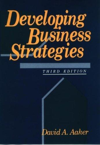 9780471557227: Developing Business Strategies