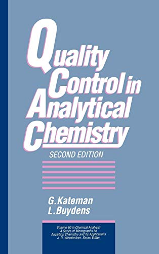Quality Control in Analytical Chemistry: G. Kateman