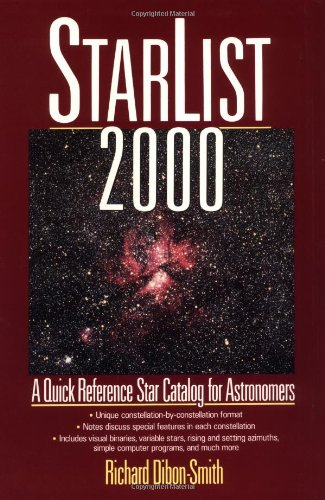 StarList 2000 A Quick Reference Star Catalog for Astronomers