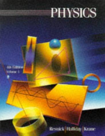 9780471559177: Physics: v. 1
