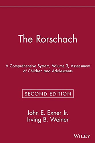 9780471559276: The Rorschach, Assessment of Children and Adolescents: A Comprehensive System: Assessment of Children and Adolescents Vol 3 (Wiley Series in Personality Processes)