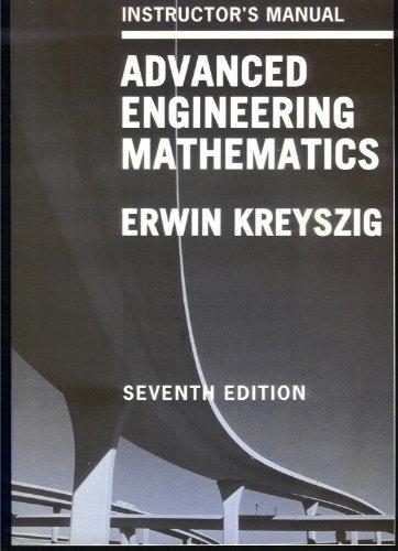 9780471570530: Advanced Engineering Mathematics: Instructor's Manual, 7th Edition
