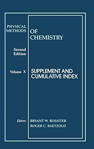 9780471570868: Physical Methods of Chemistry: Supplement and Cumulative Index