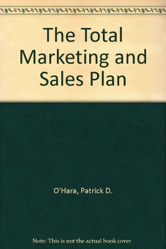 9780471571148: The Total Marketing and Sales Plan/Book and Disk