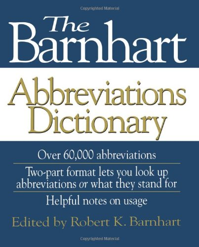 9780471571469: The Barnhart Abbreviations Dictionary