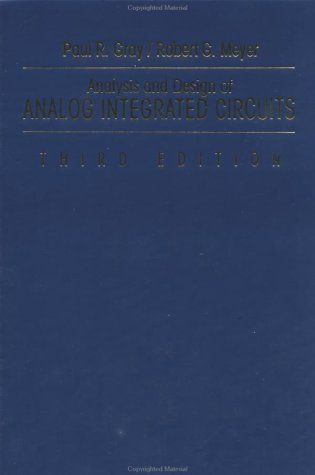9780471574958: Analysis and Design of Analog Integrated Circuits (3rd Edition)