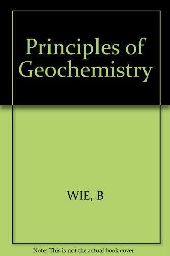 Principles of Geochemistry: Mason, Brian