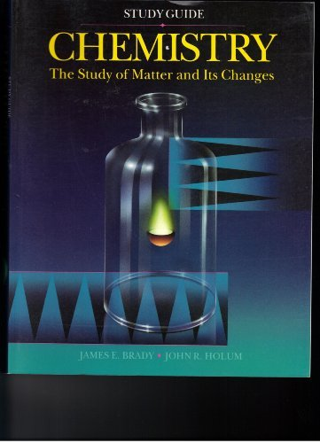 9780471578765: Chemistry, Study Guide: The Study of Matter and Its Changes