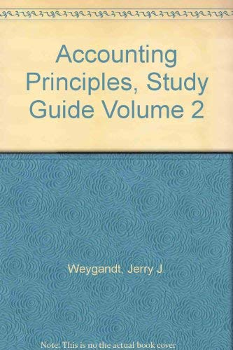 9780471579687: Accounting Principles, Study Guide Volume 2
