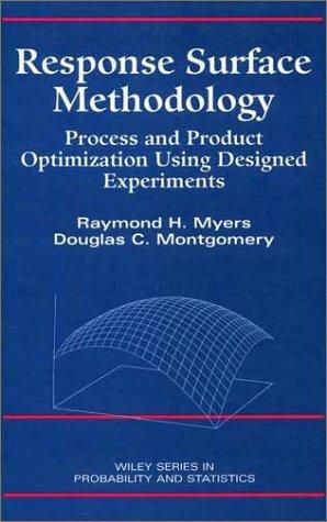 9780471581000: Response Surface Methodology: Process and Product Optimization Using Designed Experiments