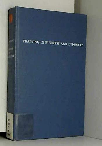 9780471584100: Training in Business and Industry
