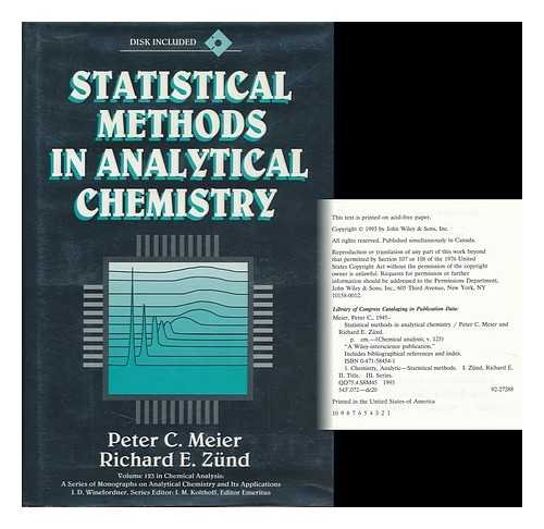 9780471584544: Statistical Methods in Analytical Chemistry