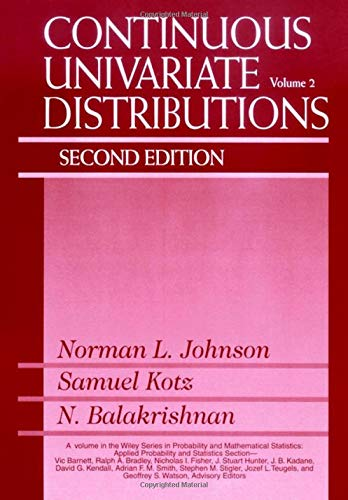 9780471584940: Continuous Univariate Distributions: Vol 2 (Wiley Series in Probability and Statistics)