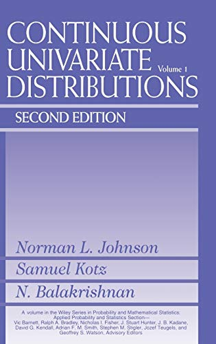 9780471584957: Continuous Univariate Distributions: v. 1 (Wiley Series in Probability and Statistics)