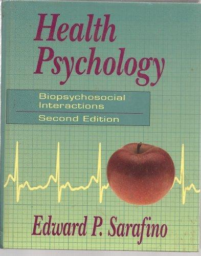 9780471585497: Health Psychology: Biopsychosocial Interactions (2nd Edition)