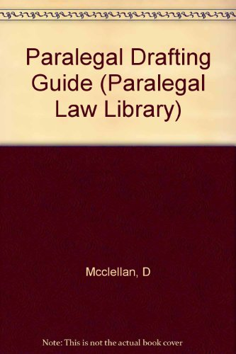 9780471587972: Paralegal Drafting Guide (Paralegal Law Library)