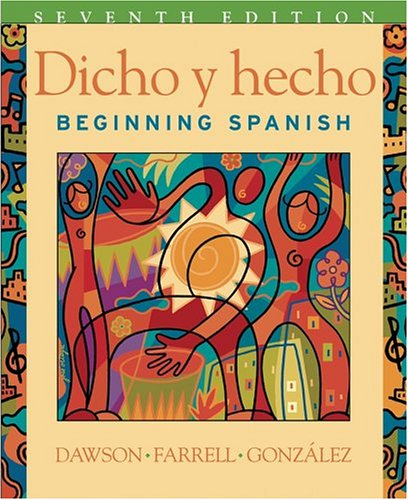 9780471589389: Dicho y Hecho: Beginning Spanish and Student Cassette