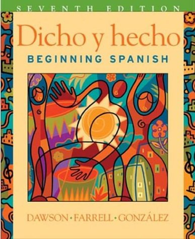 9780471589402: Dicho y Hecho Dicho y Hecho Dicho y Hecho Dicho y Hecho: Beginning Spanish Student Text and CD Beginning Spanish Student Text and CD Beginning Spanish