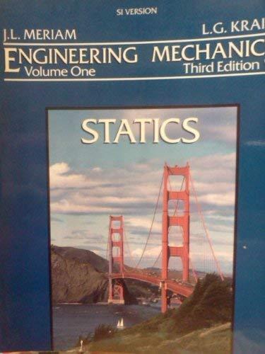 9780471592723: Engineering Mechanics: Statics v.1: Statics Vol 1