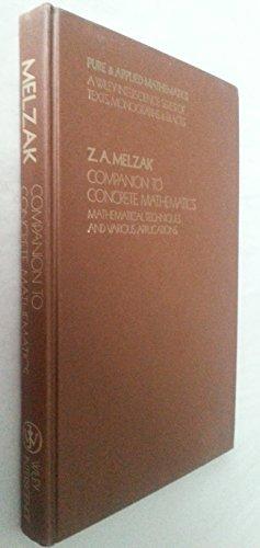 9780471593386: Companion to Concrete Mathematics (Pure & Applied Mathematics S.), Vol. 1
