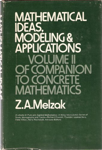 9780471593416: Companion to Concrete Mathematics: Mathematical Ideas, Modelling and Applications v. 2 (Pure & Applied Mathematics)