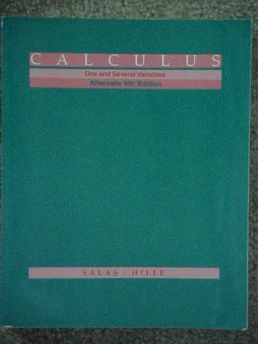 9780471594161: Calculus - One and Several Variables: Alternate Version