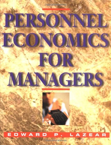 9780471594666: Personnel Economics for Managers