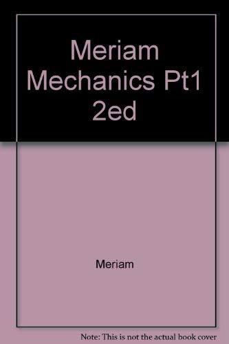 9780471595656: Mechanics Pt1 Statics 2nd Ed