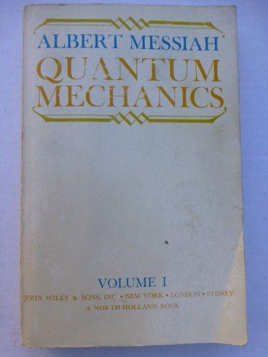 9780471597667: 1: Quantum Mechanics