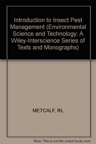 9780471598558: Introduction to Insect Pest Management (Environmental Science and Technology Series)