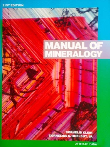 9780471599555: Manual of Mineralogy