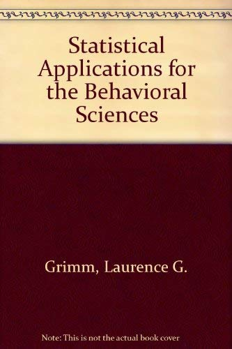 9780471599579: Statistical Applications for the Behavioral Sciences