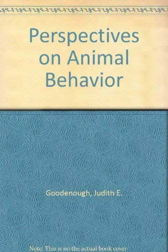9780471599654: Perspectives on Animal Behavior