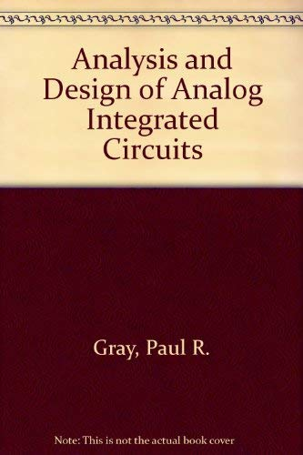 9780471599845: Analysis and Design of Analog Integrated Circuits
