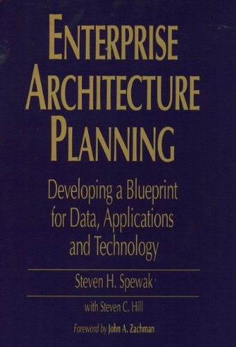 9780471599852: Enterprise Architecture Planning: Developing a Blueprint for Data, Applications, and Technology