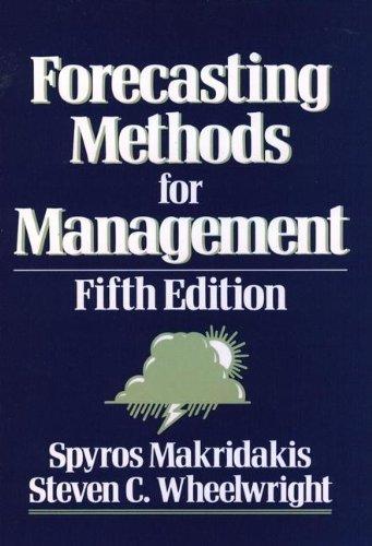 9780471600633: Forecasting Methods for Management
