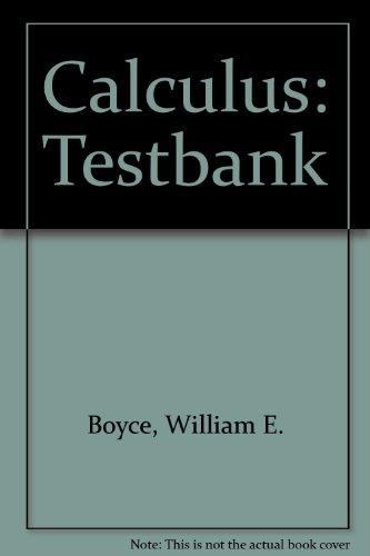 9780471601609: Calculus