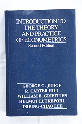 9780471602729: Introduction to the Theory and Practice of Econometrics
