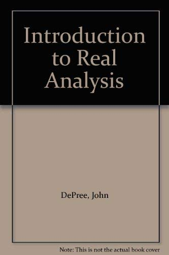 9780471602736: Introduction to Real Analysis