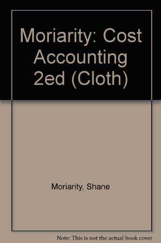 9780471603184: Cost Accounting