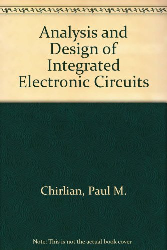 9780471603566: Analysis and Design of Integrated Electronic Circuits