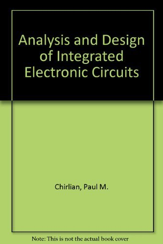 9780471607892: Analysis and Design of Integrated Electronic Circuits