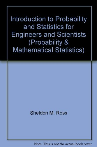 9780471608158: Introduction to Probability and Statistics for Engineers and Scientists