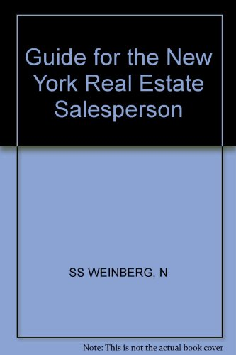 9780471608790: Guide for the New York Real Estate Salesperson